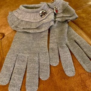 Moschino Knit Gloves with Ruffle Cuffs NWOT